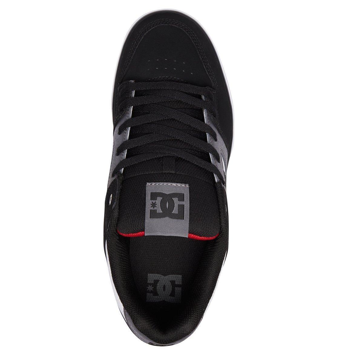 DC SKATE Schuhe  Herren TRAINERS.PURE BLACK/ROT/Weiß LEATHER PADDED SKATE DC Schuhe 8S 60 XWK c361bb