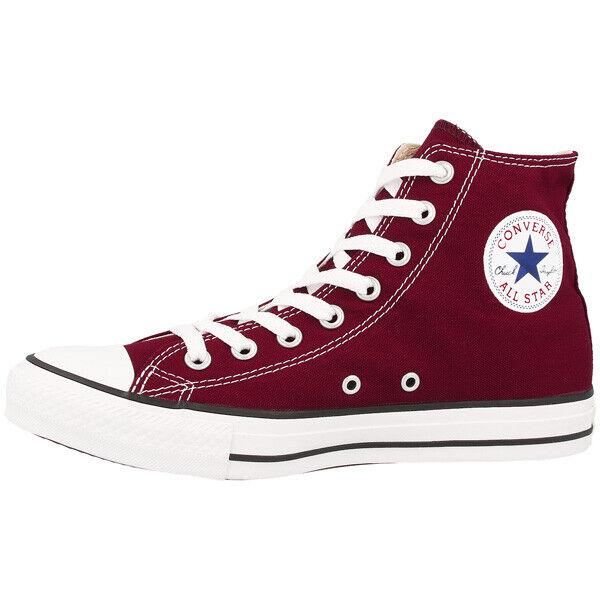 Converse Chuck Taylor All Star Hi Chaussures Haut Top paniers Loisirs Bordeaux