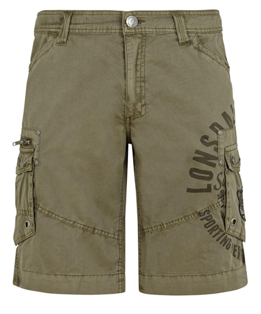 Shorts LONSDALE LONDON SIDBURY Khaki, Cargo Short - 100% Baumwolle       Marke