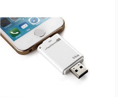 8GB 16GB 32GB 64GB USB i-Flash Drive U Disk 8pin Memory Stick For iPhone 5 5S 6