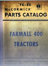 Farmall International Harvester 400 Tractor Parts Manual Farm Mccormick Ih Tc 55