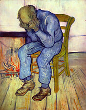 Oil painting Vincent Van Gogh - Old Man in Sorrow (On the Threshold of Eternity)
