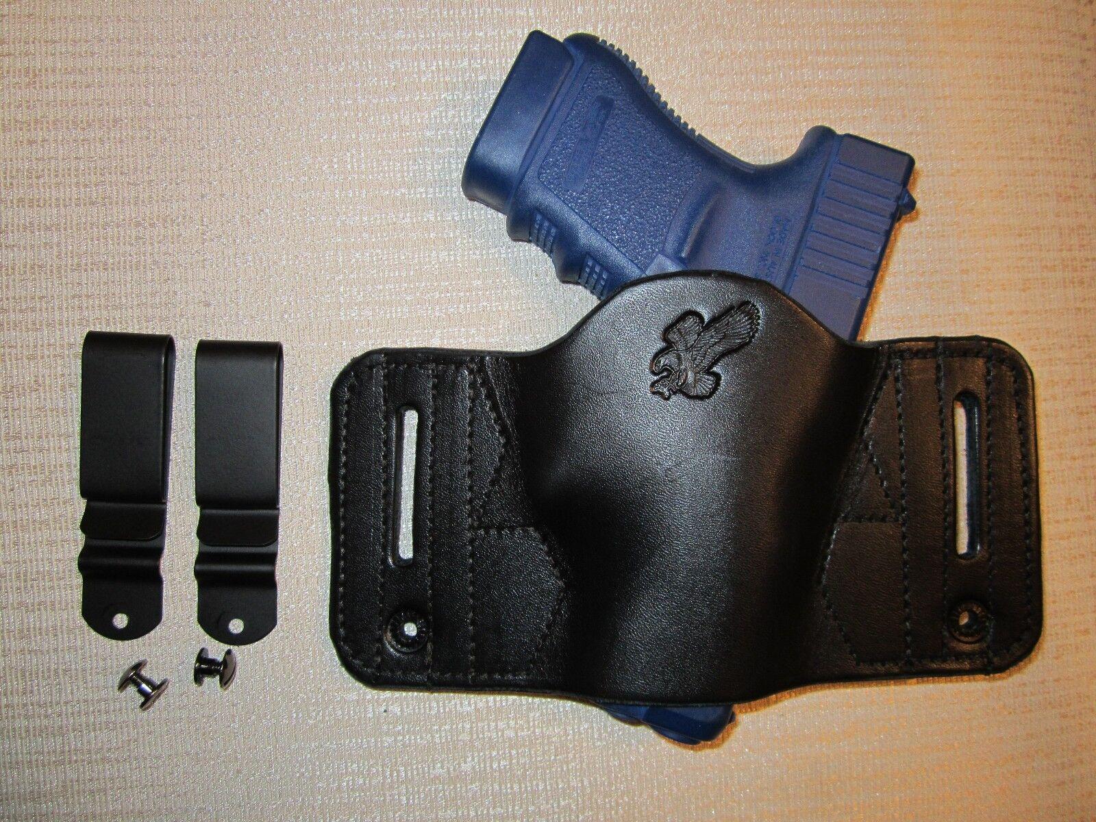 FITS GUNS WITHOUT LASERS, AMB. & UNIVERSAL FIT. IWB & OWB,PANCAKE SLIDE HOLSTER