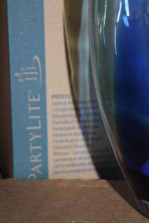 PartyLite Windlichtglas Windlichtglas Windlichtglas Frühlingszauber P92072 + Teelichthalter Teelicht OVP 5c2da3