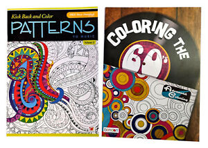 Coloring the 60\'s and Patterns Book Set Adults Activity Advanced ...