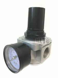 "Air Pressure 3/4"" Regulator for compressor compressed air & free gauge"