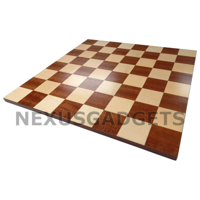 Zori Chess LARGE 18 Inch Tournament BOARD ONLY Inlaid Wood Flat Game Set, New