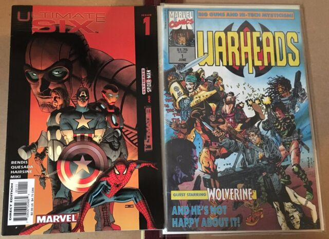 Ultimate Six #1 & Warheads #1 (2003 & 1992 Marvel) VF+, VF/NM