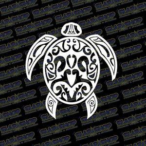 Tribal-Sea-Turtle-Vinyl-Sticker-Decal-Design-Ocean-Hawaiian-Hawaii-Car-Truck-5-034