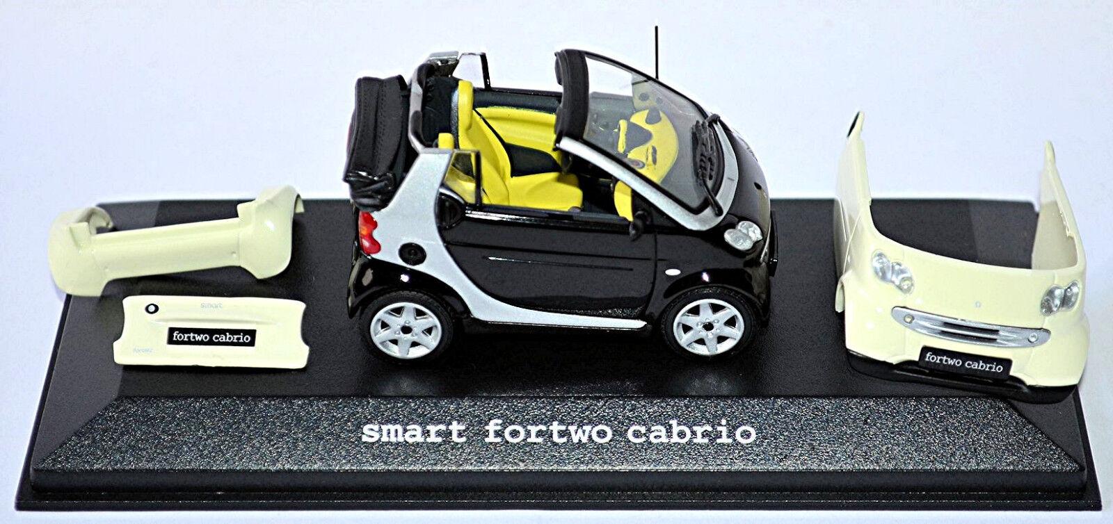 intelligent Fortwo Cabrio 2003-07 Facelift A450  Noir de Jais + Lite Blancheur  pour pas cher