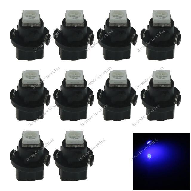 10x Blue T5 Neo Wedge 1 SMD 5050 LED Car Bulbs HVAC Climate Control Lights N401
