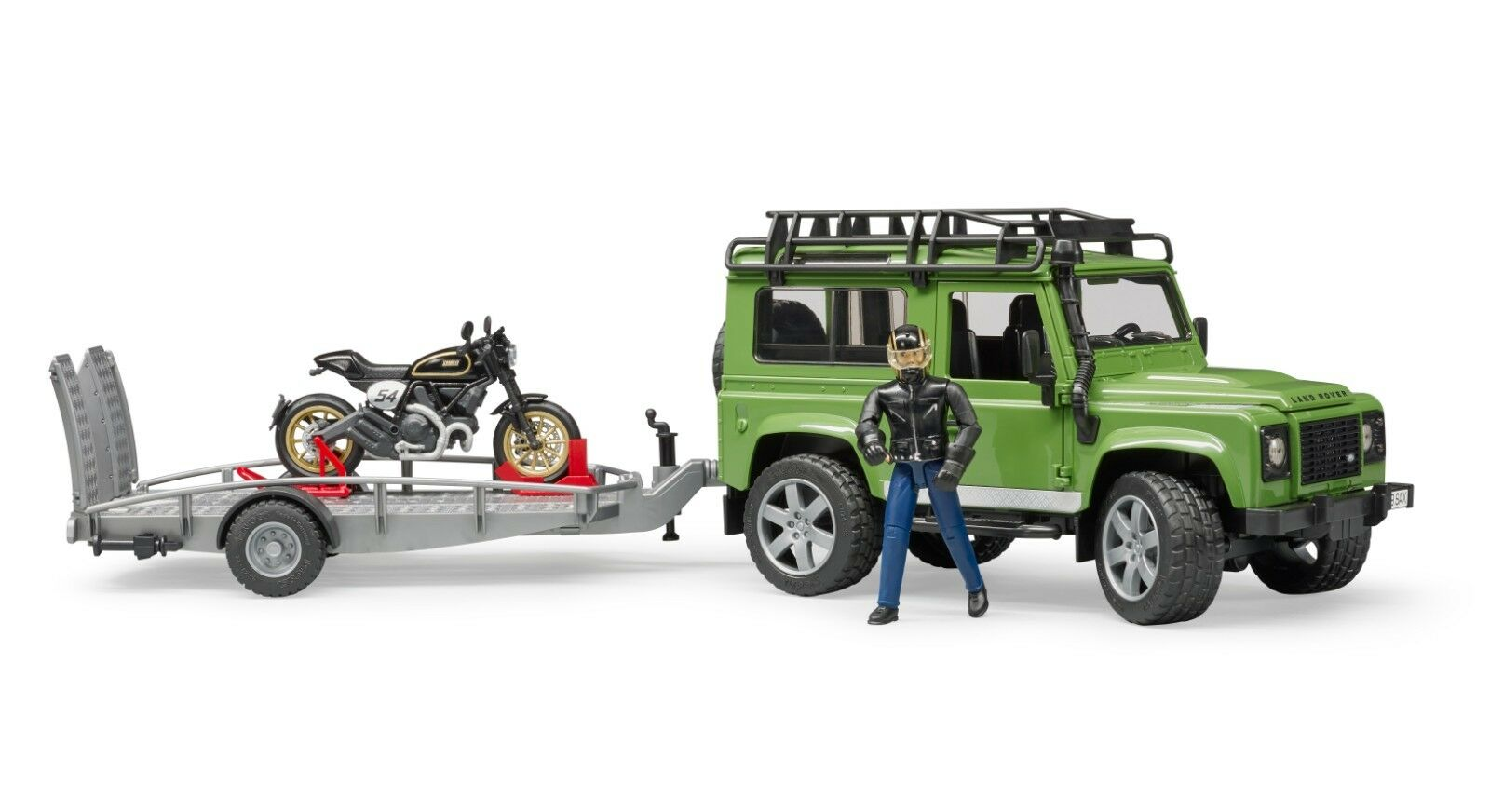 BRUDER® 02598 Land Rover Station Wagon Wagon Wagon mit Anhänger Ducati & Fahrer NEU & OVP 867c7d