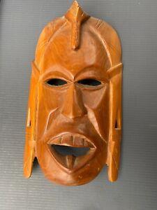 Old Carved Wooden Polynesian FIJI TONGA Tiki Mask Classic 1960's Retro Decor