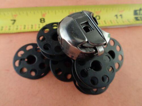 B741 10 LARGE BLACK BOBBINS 1 BOBBIN CASE FOR JUKI DU-1181 //DU-141 Brother B740
