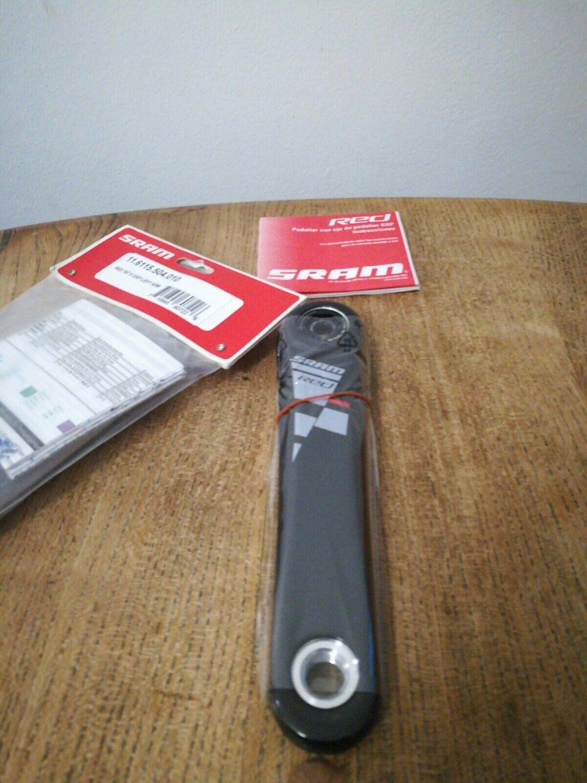 SRAM Rosso Sinistro Braccio di Manovella Gxp 167.5 mm Carbon NUOVO