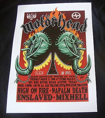 Motorhead headlining the Scion party in Austin, Texas at SXSW-concert poster