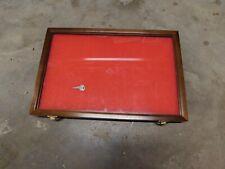 Wood Glass Front Locking Hinged Display Case