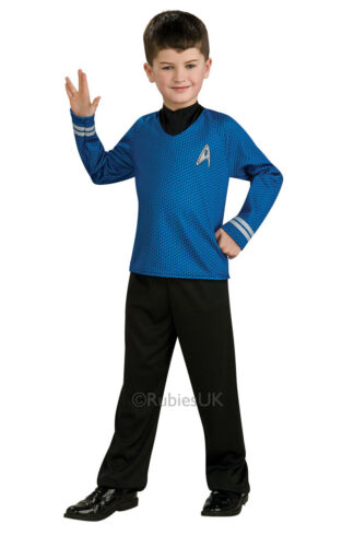 Kids Boys Childs Spock Fancy Dress Costume Outfit Rubies Star Trek Official