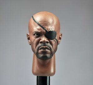 █ Custom Samuel Jackson 1/6 Head Sculpt for Hot Toys Nick Fury Body █