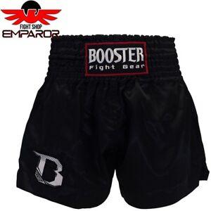 Booster-Muay-Thai-Short-TBT-Plain-Schwarz-Thaiboxhose-Thaibox-Shorts-Herren