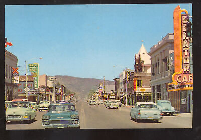 Carson City Nevada Downtown Street Scene Old Cars Stores Postcard Copy Ebay
