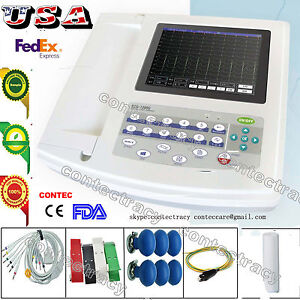 USA-Digital-12-Channel-12-lead-ECG-EKG-machine-Touch-Electrocardiograph-Software