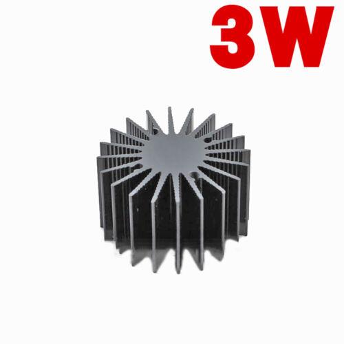 1PCS Black 3W LED Aluminum Heat Sink Round Electronic Radiator OD=36mm H=22mm