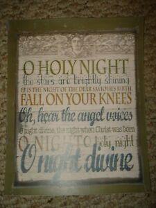 Primitive Christmas Carol O HOLY NIGHT Lyrics Art Print | eBay