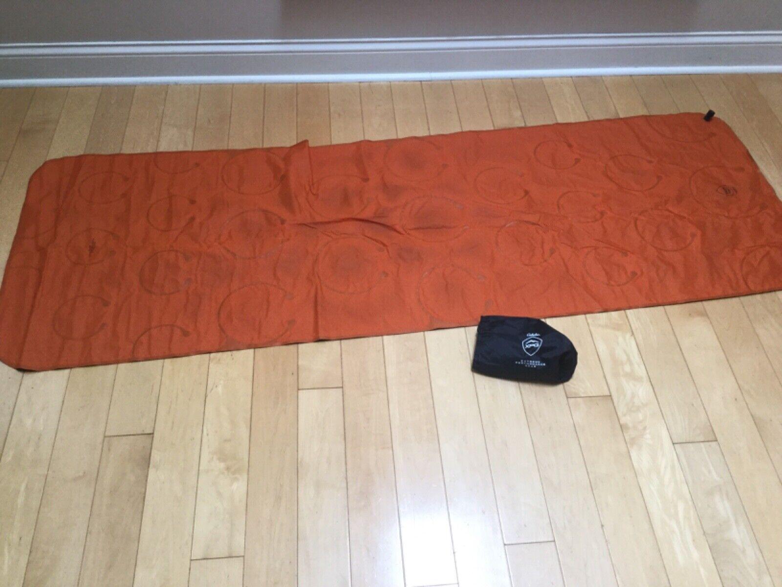 Cabela's XPG arancia Lightweight Sleeping Pad nuovo