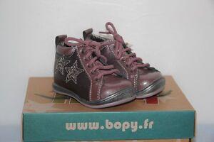 57d673e943bea BOPY - Zepop - Chaussures bébé Fille - Cuir rose - T 19 neuf