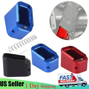 New Metal Base Pad for Glock G17 19 23  Magazine Extension Pad 2//+3 Competition