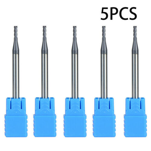 5pcs//Set Tungsten Carbide HRC45 4 Flute Milling Cutter End Mill TiAIN CNC Tool