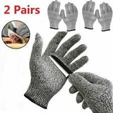 2 Pairs Butcher Gloves Cut Proof Stab Resistant Safety Kitchen L5 Protection Us
