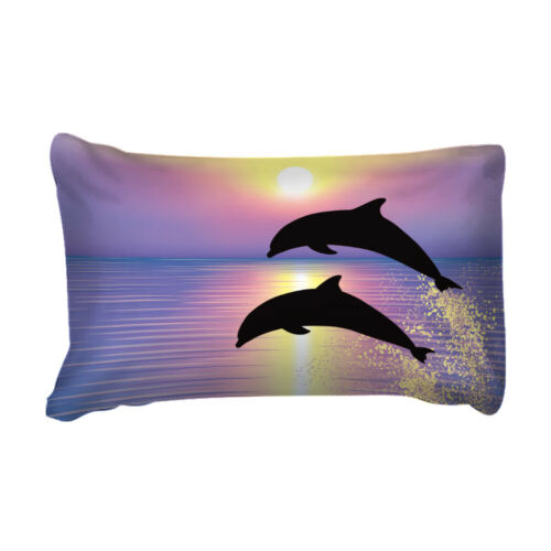 Dolphin Quilt//Duvet//Doona Cover Set Single Queen King Size Bed Animal Sunset New