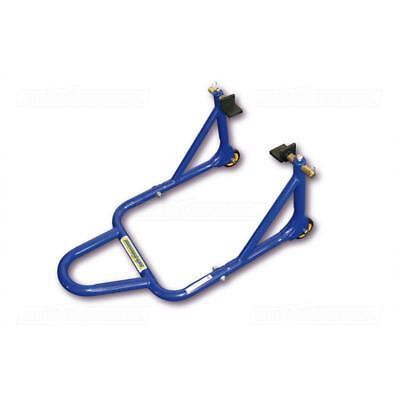Hinterrad Montageständer Motorrad Heber Ständer L-Schwingenaufnahme PRO 3 blau