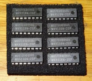 MEMORY-CHIPS-4116-DRAM-MK4116N-2GP-FOR-VARIOUS-VINTAGE-COMPUTERS-8-PER-LOT-NOS