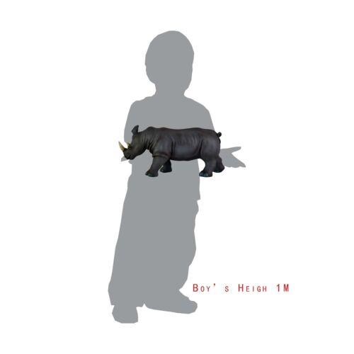 """36cm Soft Stuffed Rubber Play Toy Africa Safari  Muesum Rhino Rhinoceros 15/"""""""