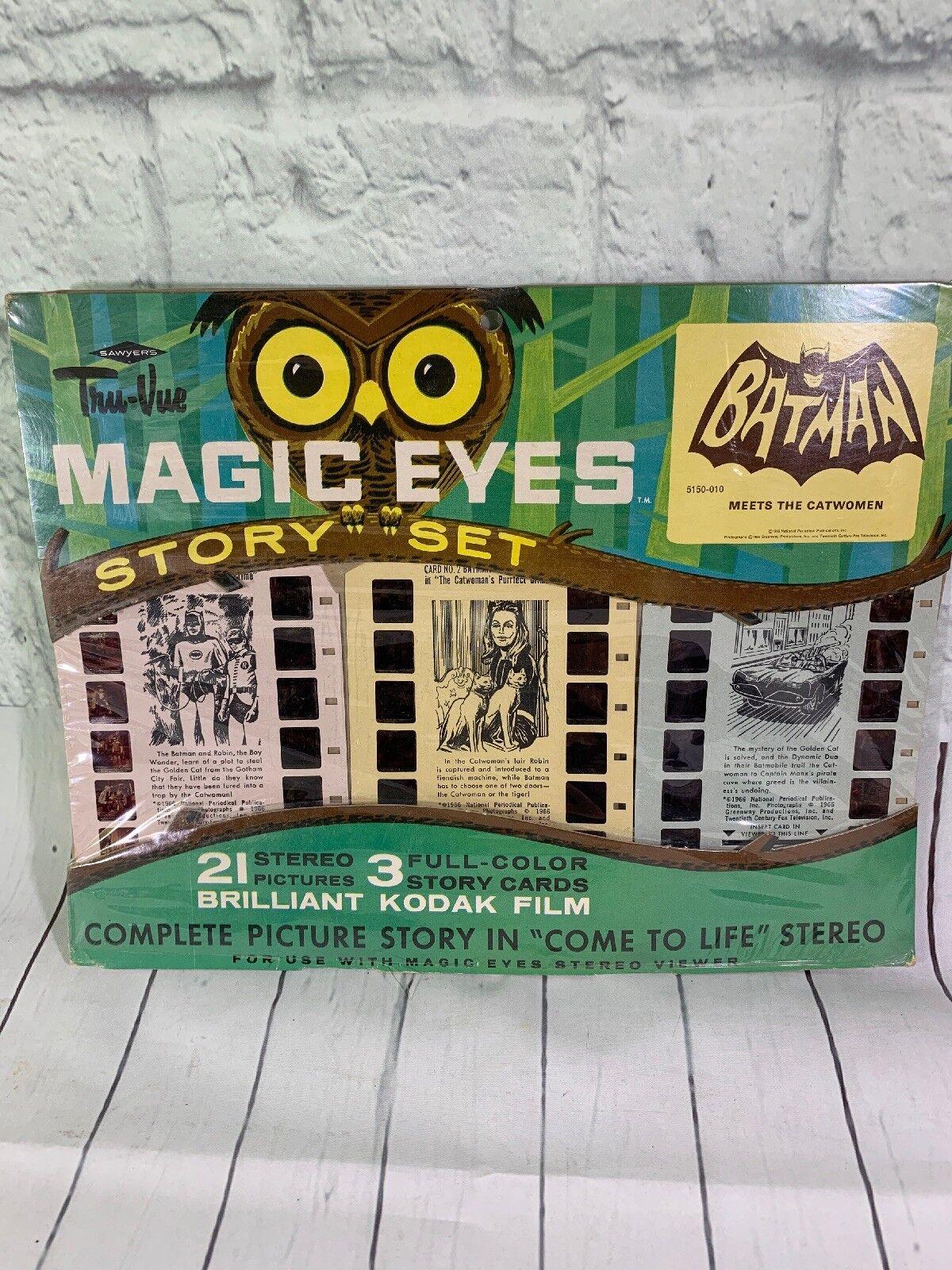oferta especial Vintage Batman Ojos Mágicos Mágicos Mágicos Historia Set-Sawyers Tru Vue 1966  en stock