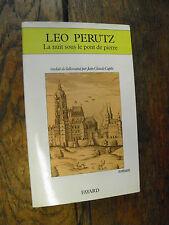 Léo Perutz La nuit sous le pont de pierre