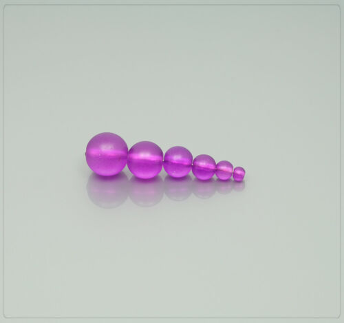 1x Strang Frosted abalorios perlas beads joyas DIY bricolaje Matt lila 6mm