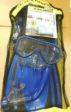 Blue  Size LG//XL Men 9-13 Lady 10-14 Divers Travel Ready Pakala Set New U.S
