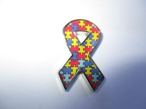 Autistic-Supporter-Ribbon-Lapel-Pin-Badge-Top-Quality-biker-rider-Vest