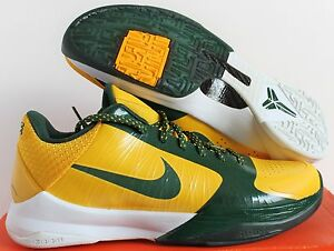 3cf3962de312 Nike 2009 Zoom Kobe V 5 Rice High School Edition Maize sz 8.5 Rare ...