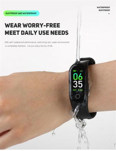 "0,96/"" Band 3 Smartwatch Pulsuhr Fitness Tracker BT Armband Sport Uhr"
