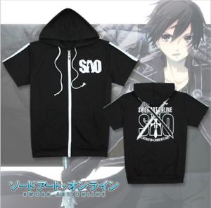 Summer Anime Sword Art Online SAO Short sleeve T-shirt Sweater Hoodie Tops