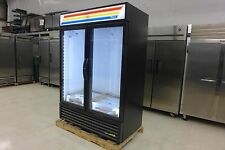 New True Gdm-49F-Hc-Ld Glass 2 Door Led Freezer Frozen Ice Cream Merchandiser