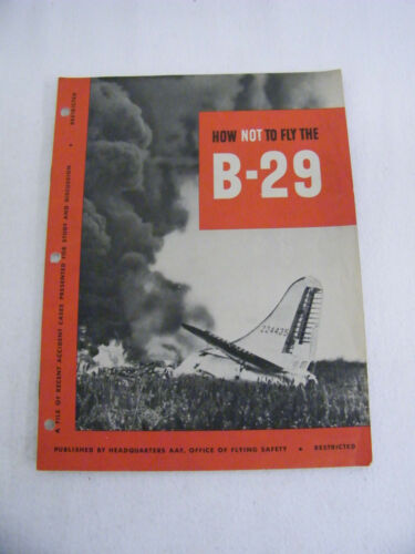 Rare Vintage WW II WW2 How Not To Fly The B29