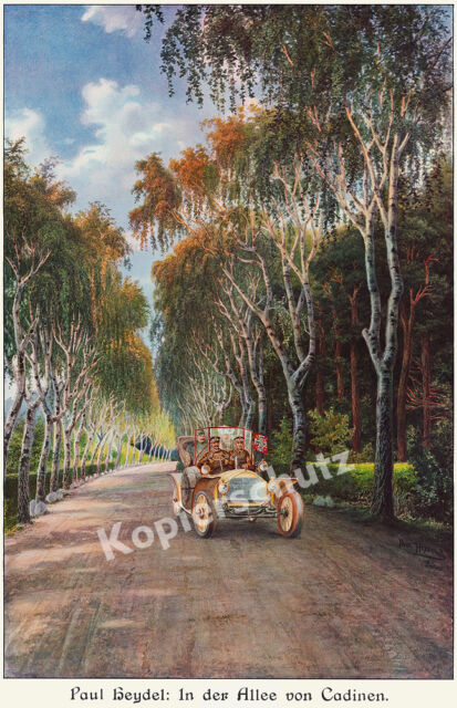 Wilhelm II. Mercedes-Benz Chauffeur Car Kaiser Stand Arte cadinene East Prussia 1909