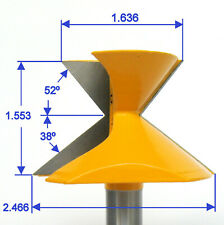 "1 Pcs 52 Degree X 38 Degree Crown Molding Miter Router Bit 1//2/"" Shank"