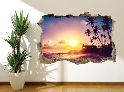 14711407 Hawaiian sunset in paradise photo Hole in wall sticker wall mural
